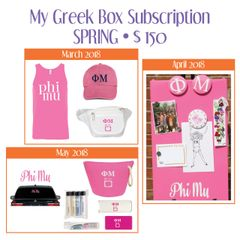 My Greek Box Subscription • Spring • Phi Mu