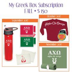 My Greek Box Subscription • Fall • Alpha Chi Omega