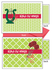 Alpha Chi Omega Logo Notecards