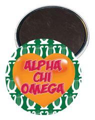 Alpha Chi Omega Heart Magnet