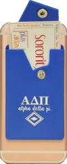 Alpha Delta Pi Cell Phone Pocket with Snap Closure