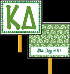 Kappa Delta Bid Day Hand Fan