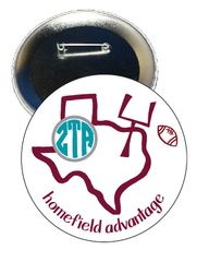 Zeta Tau Alpha Texas A&M Homefield Advantage Gameday Button