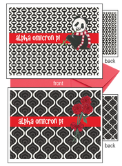 Alpha Omicron Pi Logo Notecards