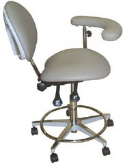 Model 2022 Dental Assistant Stool,Contoured seat with 3 way adjustable height (Galaxy)