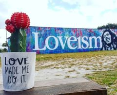 Cement Planter - Love Made Me Do It