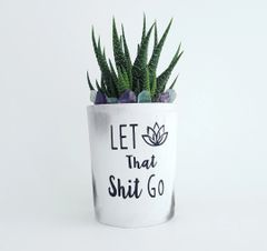 Cement Planter - Let That Shit Go
