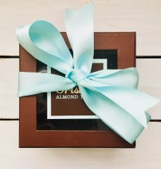 One Pound Box Dark Chocolate Almond Toffee
