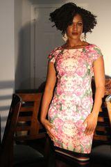 ELIZAJ Floral Print Dress