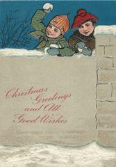 £1 Christmas Card!!! 'Christmas Tykes' Vintage Christmas Card Repro.
