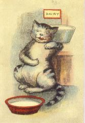 £1 Card!!! 'The Good Life' Vintage Cat Illustration Greeting Card.