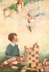 'Building Dreams' Vintage Storybook Greeting Card
