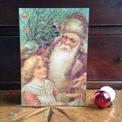 £1 Christmas Card!!! 'Father Christmas' Traditional Victorian Christmas Card Repro