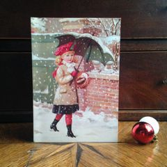 £1 Christmas Card!!! 'Snowflakes' Traditional Victorian Christmas Card Repro