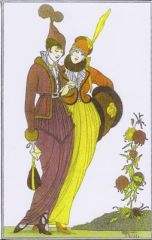 'The Love Letter' Elegant Art Deco Greeting Card with Armand Vallee Illustration