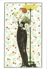 'The Scent of Lemon' Stunning Art Deco Card by Georges Barbier
