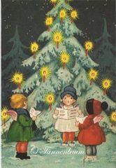 'O Tannenbaum' Vintage Swedish Christmas Card Repro