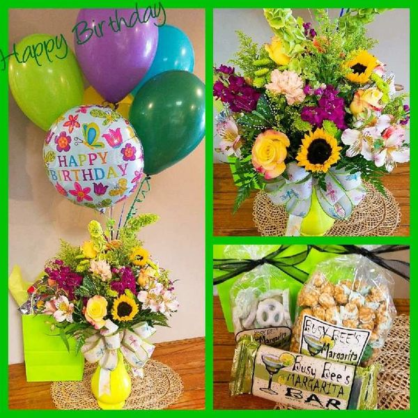 Happy Birthday Surprise Bundle | Busy Bees Floral and Gifts LLC