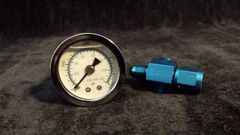 Nitrous gauge with adapter fitting