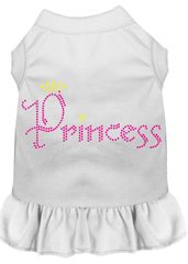 DOG DRESSES: Rhinestone Dress PRINCESS Poly/Cotton with Ruffle Trim Various Colors & Sizes by Mirage