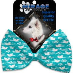 DOG BOW TIE: Decorative & Classy Silky Polyester Bow Tie for Dogs - HOPE & PEACE