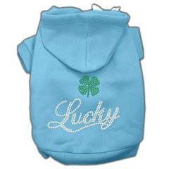 Dog Hoodies: LUCKY Rhinestone Dog Hoodie by Mirage Pet Products USA