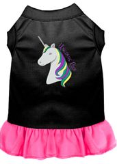 DOG DRESSES: Embroidered UNICORNS ROCKS Dog Dress by Wanderlust Sizes XSm - 3X