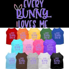 Dog Shirts: Easter Screen Print Dog Shirt in Various Colors & Sizes by Mirage - EVERY BUNNY LOVES ME