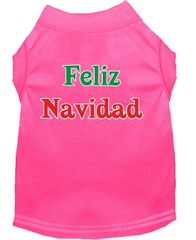 Dog Shirts: Christmas Screen Print Dog Shirt in Various Colors & Sizes by MiragePetProducts - FELIZ NAVIDAD