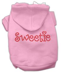 Dog Hoodies: SWEETIE Rhinestone Dog Hoodie by Mirage Pet Products USA