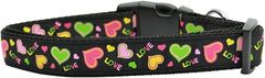 Holiday Nylon Dog Collars: Nylon Ribbon Collar by Mirage Pet Products - NEON LOVE USA