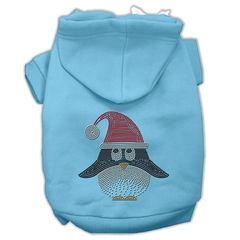 Dog Hoodies: SANTA PENGUIN Rhinestone Dog Hoodie by Mirage Pet Products USA