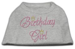 Dog Shirts: BIRTHDAY GIRL Rhinestone Dog Shirt in Various Colors & Sizes by Mirage