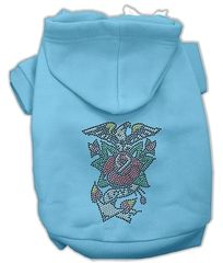 Dog Hoodies: Cute Rhinestone EAGLE ROSE NAILHEAD Design Dog Hoodie by Mirage Pet Products USA