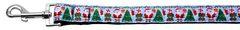Holiday Nylon Dog Leashes: Aqua Santa Nylon Dog Leash Mirage Pet Products USA