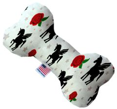 PET TOYS: Durable Fabric/Canvas Bone Shape Pet Toy MAGICAL LOVE in 3 Sizes Made in USA by MiragePetProducts