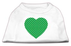 Dog Shirts: GREEN SWISS DOT HEART design Screen Print Dog Shirt in Various Colors & Sizes by Mirage