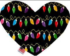 PET TOYS: Soft Velvety Fabric Heart Shape Pet Toy DIGITAL CHRISTMAS LIGHTS in Two Sizes Made in USA by MiragePetProducts