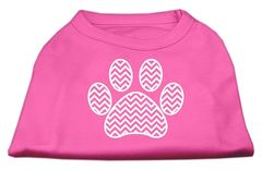 Dog Shirts: CHEVRON PAW Screen Print Dog Shirt in Various Colors & Sizes by Mirage
