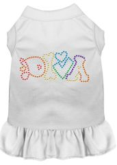 DOG DRESSES: Rhinestone Dress DIVA Poly/Cotton with Ruffle Trim Various Colors & Sizes by Mirage