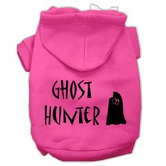 Dog Hoodies: GHOST HUNTER Screen Print Dog Hoodie in Various Colors & Sizes by MiragePetProducts