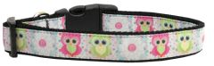 Dog Collars:Nylon Ribbon Collar by Mirage Pet Products USA - SWEET AS SUGAR OWLS