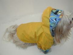 Hooded Dog Raincoats: Nylon Reinforced Dog Raincoat with FLEECE LINING