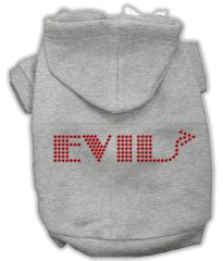 Dog Hoodies: Cute Rhinestone EVIL Dog Hoodie by Mirage Pet Products USA