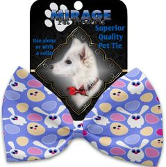 DOG BOW TIE: Decorative & Classy Silky Polyester Bow Tie for Dogs - CHICKS & BUNNIES
