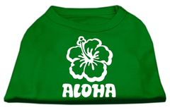 Dog Shirts: ALOHA FLOWER Screen Print Dog Shirt in Various Colors & Sizes by Mirage
