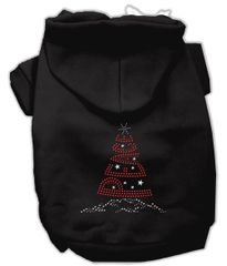 Dog Hoodies: Rhinestone PEACE TREE Dog Hoodie by Mirage Pet Products USA