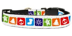 Martingale Dog Collars: CHRISTMAS CLASSIC Nylon Ribbon Dog Collar Mirage Pet Products USA