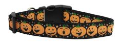 Holiday Nylon Dog Collars: Nylon Ribbon Collar Mirage Pet Products - PUMPKINS