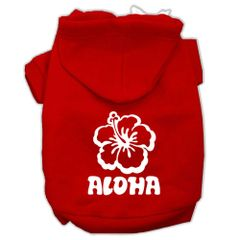 Dog Hoodies: ALOHA Screen Print Dog Hoodie in Various Colors & Sizes by MiragePetProducts